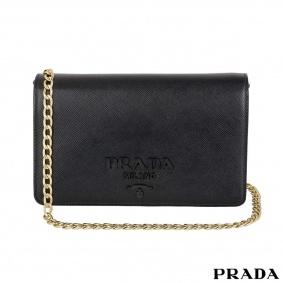 Prada Black on Black Cross Body Bag